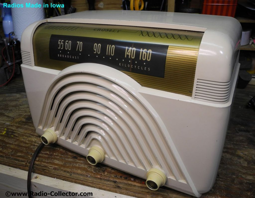 Crosley model 68TW, Radio made in Iowa
