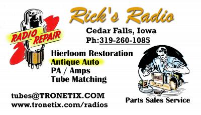 Rick's Radio, Cedar Falls Iowa