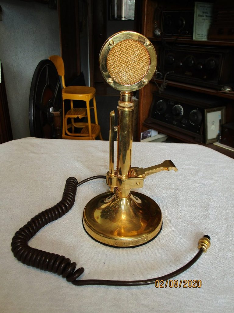 Astatic Golden Eagle microphone front view