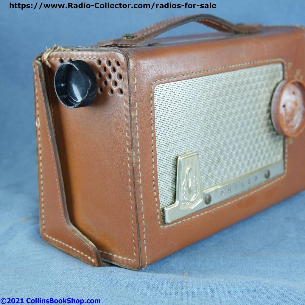 philco-sportster-E-675-AC-DC-portable-Tube-Radio-left